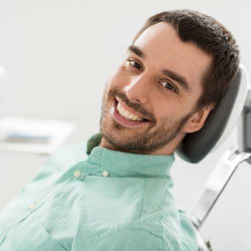 Man sharing healthy smile